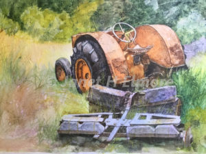 """Old """"Case"""" Tractor Watercolor Painting"""