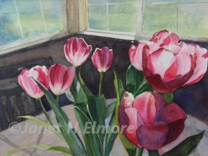 Tulip Bouquet Watercolor Painting