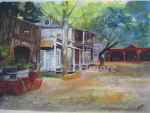 Georgetown Street Watercolor Painting