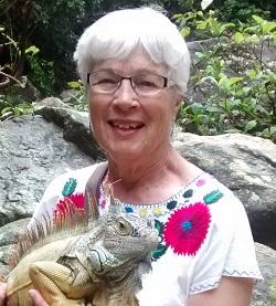 Jan with iguana