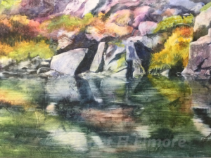 Sierra Reflection Watercolor Painting